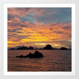 Sunset in Krabi Art Print