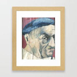 The Old Man who Might like or hate the sea Framed Art Print