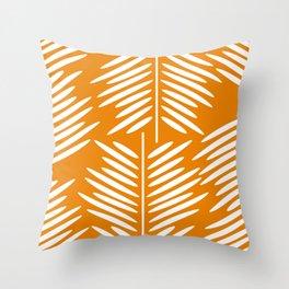 Leaves- minimal Throw Pillow