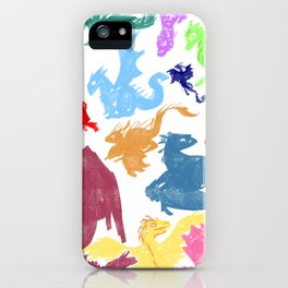 Many Colorful Dragons iPhone Case