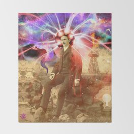 Electric Scientist Throw Blanket
