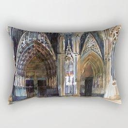Koln cathedral's facade Rectangular Pillow