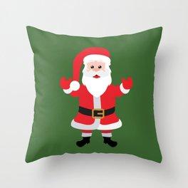 Christmas Santa Claus Says Welcome to You Throw Pillow