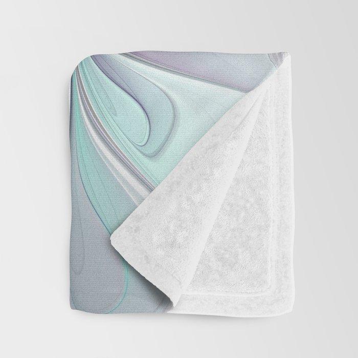 Flourish Abstract, Fantasy Flower Fractal Art Throw Blanket