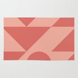Warm Geometric Waves Rug
