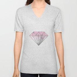 Pink  Grey Soft Gradient Bokeh Lights Unisex V-Neck