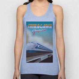 Shinagawa Japan travel poster Unisex Tank Top