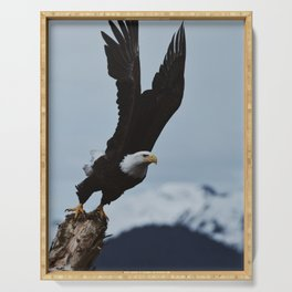 Alaskan Bald Eagle Serving Tray