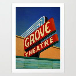 Grove Theater  Art Print