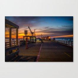Sunrise on the Pier Avila Beach California Canvas Print
