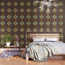 Retro Flower 301 Wallpaper