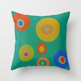 Colorul Geometric Circles Throw Pillow