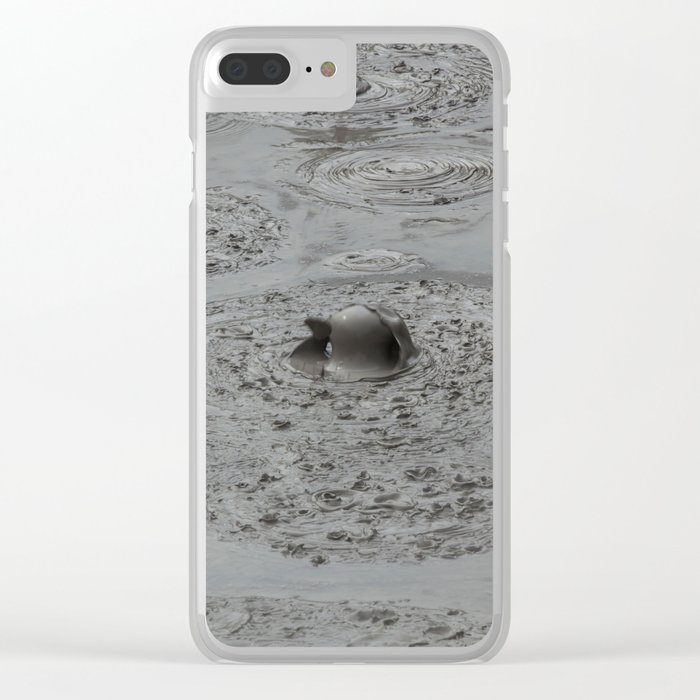 Bald Head Hot Mud Bubble Clear iPhone Case