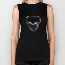 Kettlebell heart / 3D render of heavy heart shaped kettlebell Biker Tank