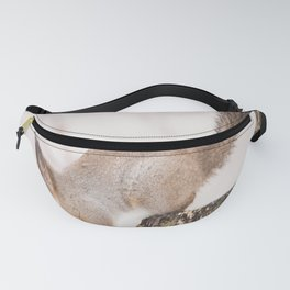 Little squirrel jumping on the branch #decor #society6 #buyart Fanny Pack