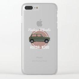 Vintage Wheels - Honda N360 Clear iPhone Case