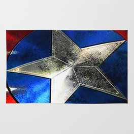Left behind the captain of america Rug