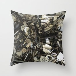 Which One Fits? Throw Pillow