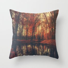 Where are you? Autumn Fall - Autumnal forest Throw Pillow