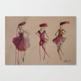 The three ladies Canvas Print