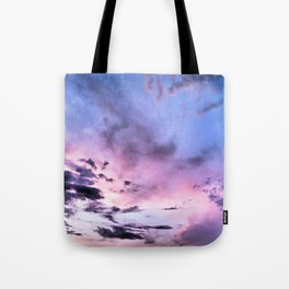 fly up to the blue pink sky Tote Bag
