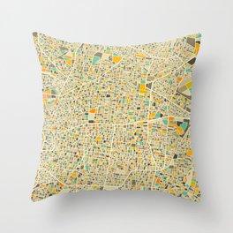 Mexico City Map Throw Pillow