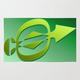 Arrow green Rug