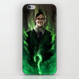 Riddle me this iPhone Skin