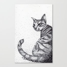 Tazzy Cat Canvas Print