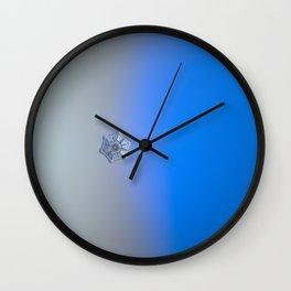 Real snowflake macro photo - Winter fortress Wall Clock