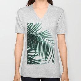 Palm Leaves Green Vibes #8 #tropical #decor #art #society6 Unisex V-Neck