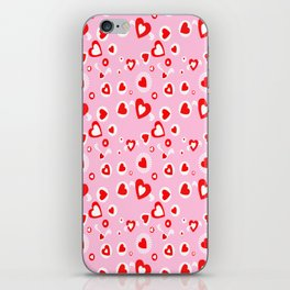 pattern of different shapes of hearts iPhone Skin