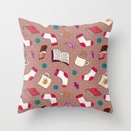 A Cozy Winter's Night Throw Pillow