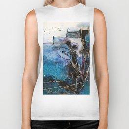 Midnight Sky, Acrylic artwork Biker Tank