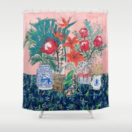 The Domesticated Jungle - Floral Still Life Shower Curtain
