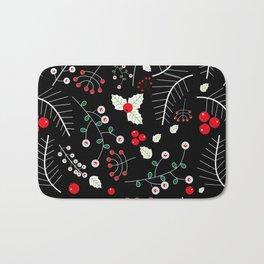mistletoe black Bath Mat