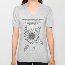 Leo Unisex V-Neck