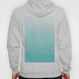 Modern teal watercolor gradient ombre brushstrokes pattern Hoody