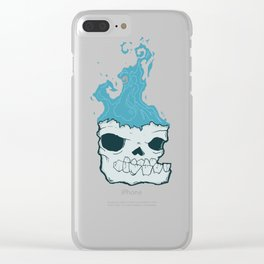 Skull on fire Clear iPhone Case