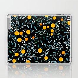 Oranges Black Laptop & iPad Skin