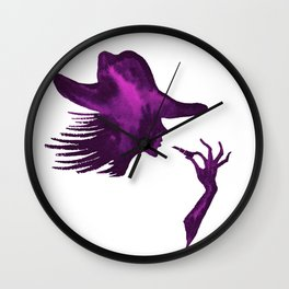 DIVA WITH HAT and Lipstick - PAINTED - Gorgeous VIOLET Wall Clock