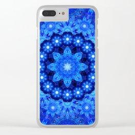 Lapis Crown Mandala Clear iPhone Case
