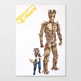 Rocket/Groot & Han/Chewie Canvas Print