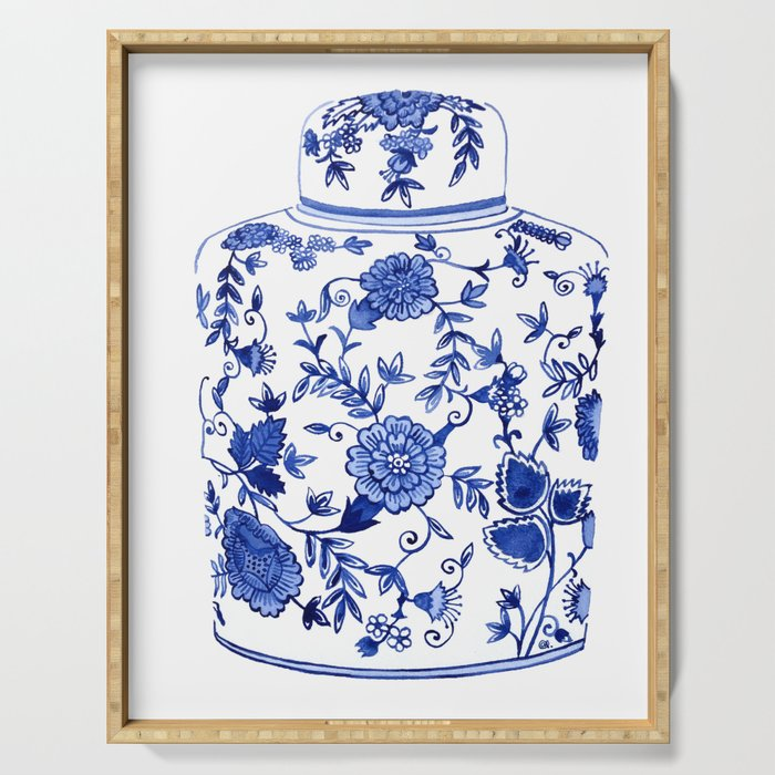 CHINOISERIE GINGER JAR Serving Tray