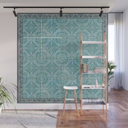 Victorian Turquoise Ceramic Tiles Wall Mural