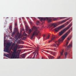 Faded Crystal Flower Rug