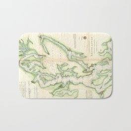 Vintage Map of The Puget Sound (1867) Bath Mat