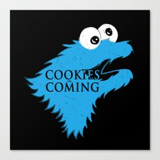 Cookies are coming Canvas Print