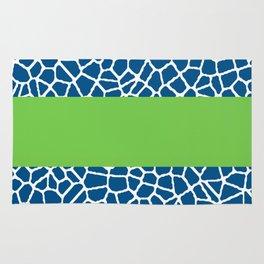 staklo (dark blue with green stripe) Rug