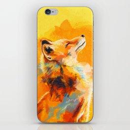 Blissful Light - Fox portrait iPhone Skin